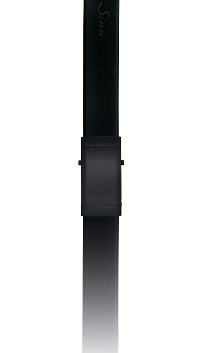 Silicone strap, black Tegiment folding clasp (U1000 S, U2 S)