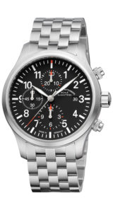 Terrasport I Chronograph black dial (steel band) M1-37-74-MB