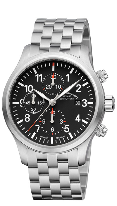 MÜHLE - Terrasport I Chronograph black dial (steel band) M1-37-74-MB