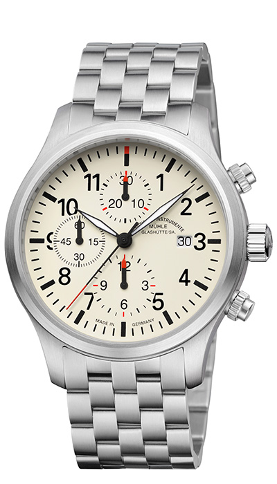 Terrasport I Chronograph cream dial (steel band) M1-37-77-MB