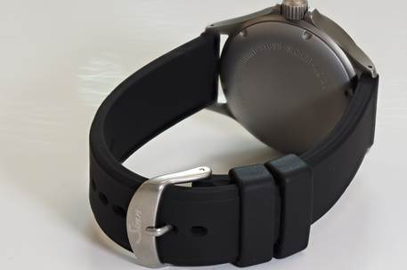 Silicone strap with pin buckle, 20,22mm